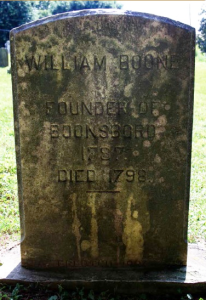 Grave of William Boone, founder of Boonsboro.