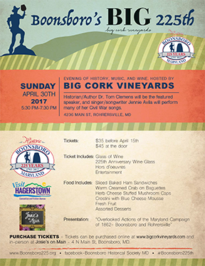Boonsboro 225th Event – History, Music & Wine at Big Cork