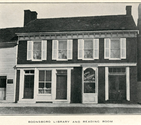 Boonsboro Reflections: Merger of the Republican Club & Washington County Free Library