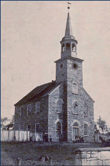 Old Salem Church which housed Trinity Lutheran and Trinity Reformed until the late 1800s