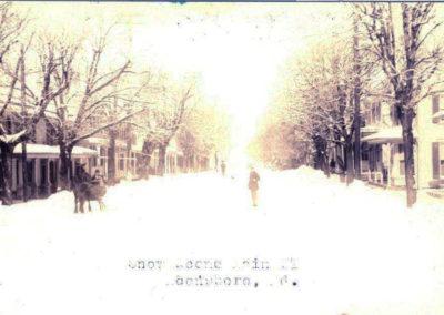 Snow in Boonsboro, Main Street