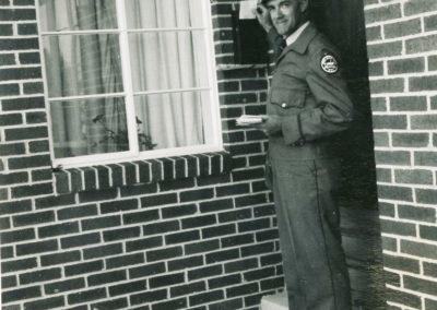 Glen Haynes delivering mail