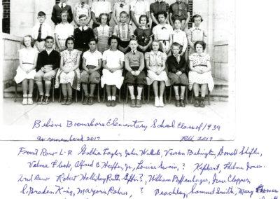 Boonsboro Elementary Class of 1939