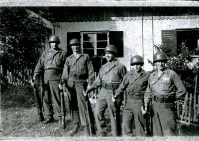 Jim Bowers of Boonsboro, in Germany during World War II with the other men of Maryland in his unit