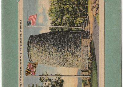 Monument Souvneir with postcard