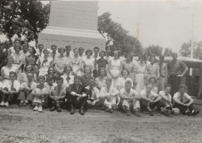 Boonsboro High School Junior Class 1938 trip to Antietam