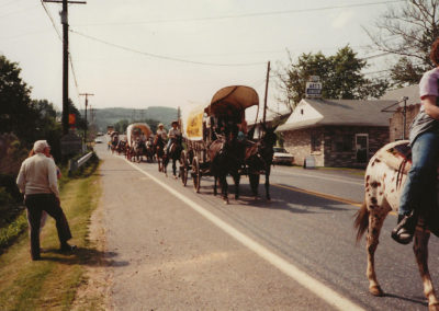 First Wagon train. Arts Jewelers was located wehre the Boonsboro Vet is today