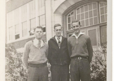 Glen Haynes and friend outside of Boonsboro High School