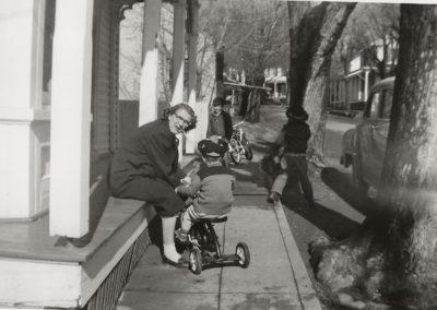 June Clopper Haynes on St. Paul Street