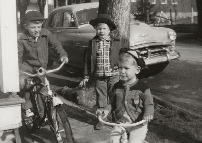 Boys on bikes tim haynes, ray minnick is standing