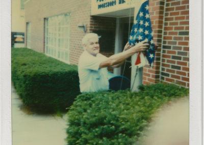 Postmater Richard Haynes last day on job 1987
