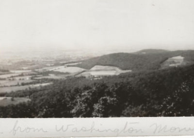 View from Washington Monument in 1930s