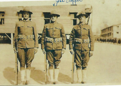 John Clopper in middle, World War I