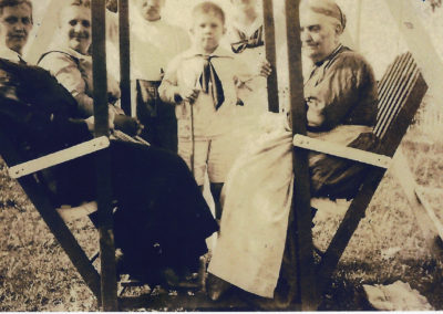 Clopper family on a swing