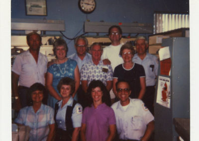 Richard Haynes' last day 1987 at post office.