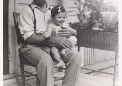 Cathy Haynes with Joseph Clopper